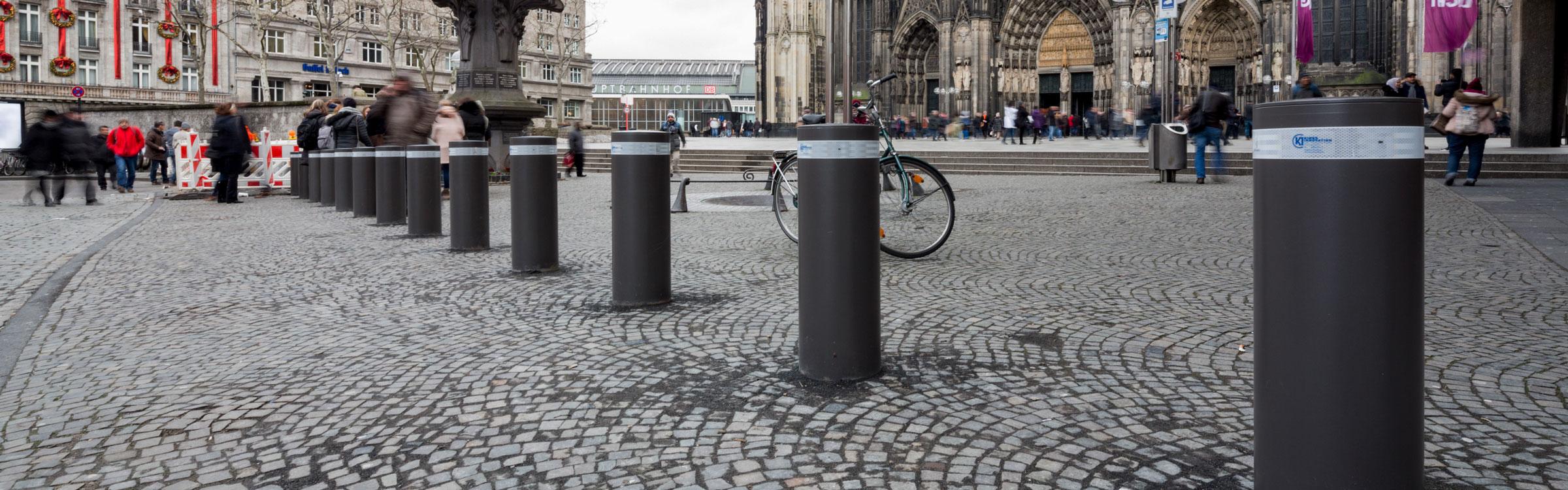 Sicherheitspoller in Köln