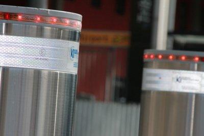Sicherheitspoller mit LED-Leuchtkranz