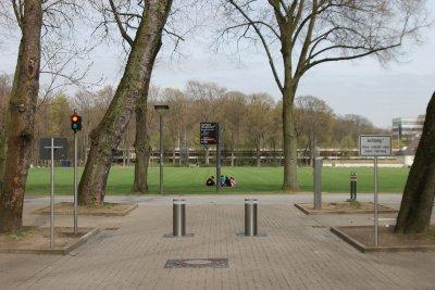 automatisches Pollersystem am Stadion in Köln Müngersdorf
