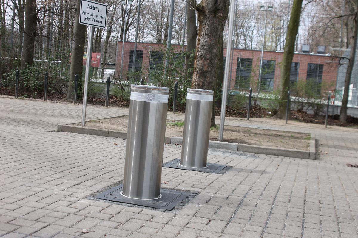 Pollersystem am Stadion in Köln Müngersdorf